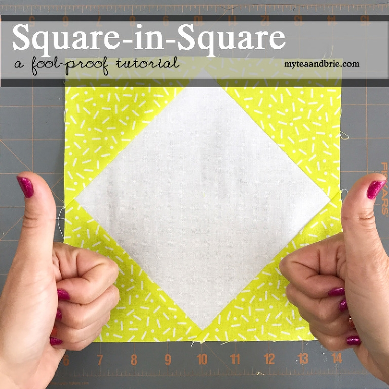 quilt pattern tutorial square in square block tea brie Stylish Square In Square Quilt Pattern