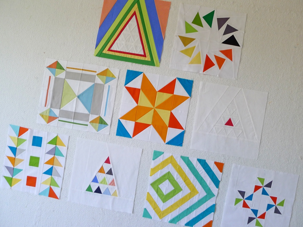 quiltcon block challenge triangles the modern quilt guild Stylish Triangle Modern Quilt Guild