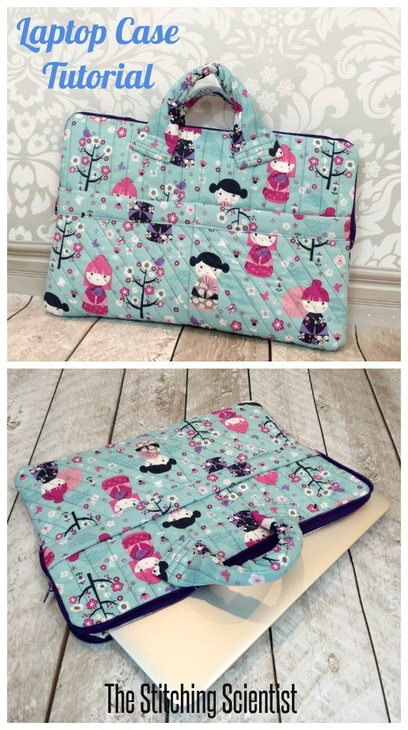 quilted laptop case free bags to sew sewing projects Stylish Quilted Laptop Bag Pattern Inspirations