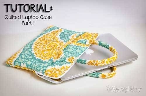 quilted laptop case free sewing tutorial bags to sew Stylish Quilted Laptop Bag Pattern Inspirations