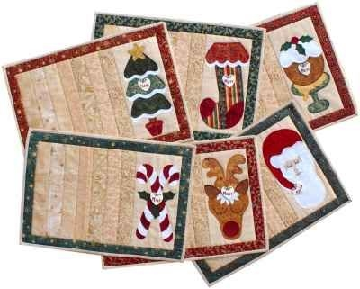 quilted placemats patterns free christmas projects nikki Christmas Quilting Placemat Gallery