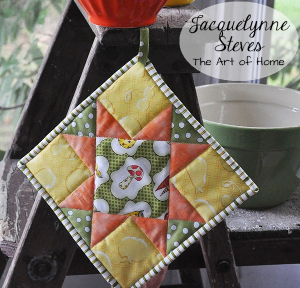quilted potholder tutorial jacquelynne steves Modern Quilted Pot Holder Patterns