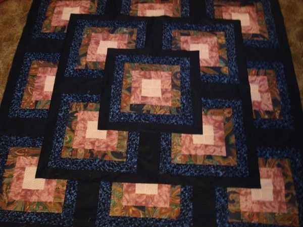 quilting board Cozy Block In A Block Quilt Pattern