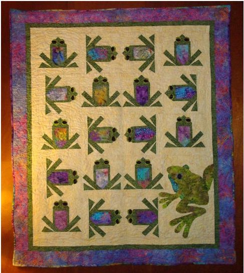 quilting board Modern Frog Quilt Block Pattern Gallery