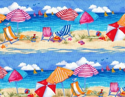 quilting fabric panels beach scenes thread beach scene Cool Beach Fabric For Quilting