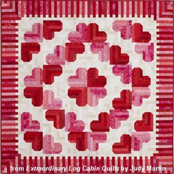 quilting with judy martin lessons blocks and quilting Unique Log Cabin Heart Quilt Pattern