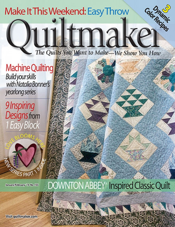 quiltmaker january february 2014 digital edition Interesting Downton Abbey Quilt Patterns Inspirations