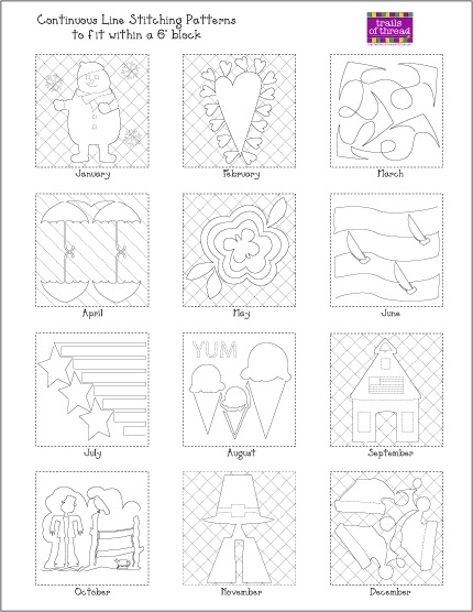 quilts and thoughts free continuous line stitching pattern Cool Quilting Stitching Patterns Inspirations