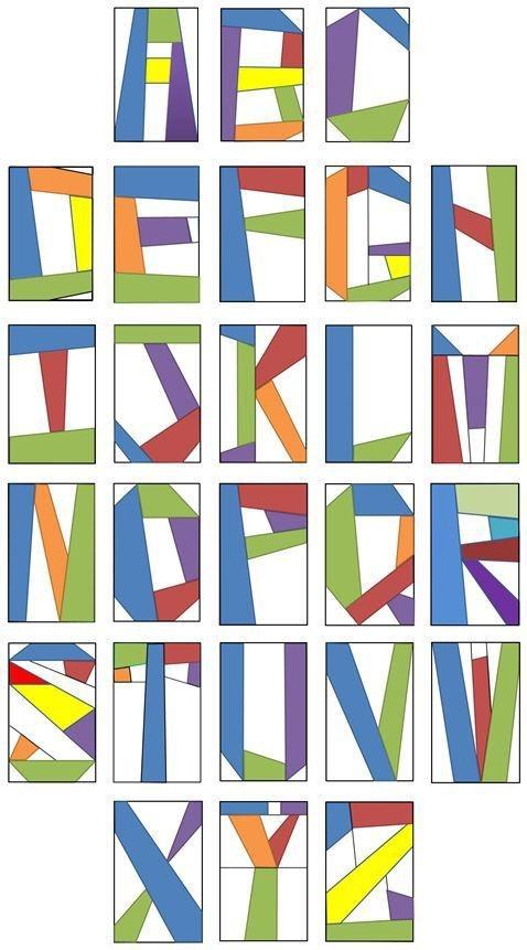 Permalink to Elegant Alphabet Quilt Block Pattern