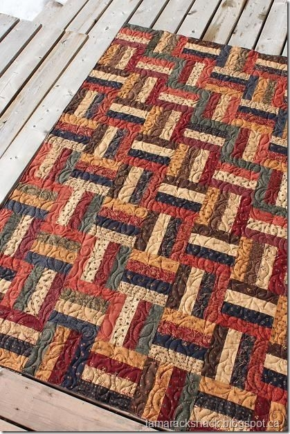 rail fence with kansas troubles fabric quilts for all Cozy Split Rail Fence Quilt Pattern Inspirations