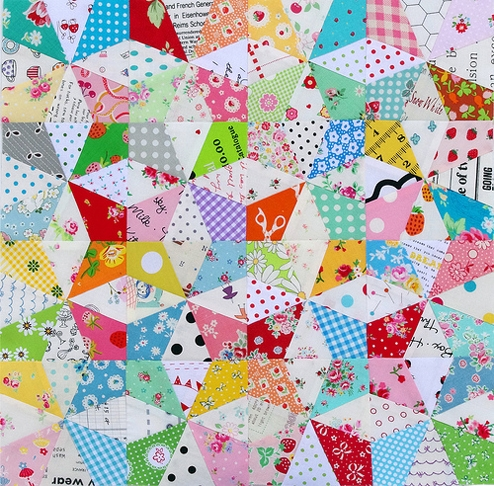 red pepper quilts kaleidoscope block and free foundation Cozy Kaleidoscope Patchwork Quilt Pattern