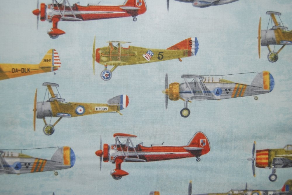 rk72 vintage antique airplanes sky blue flight aviation Vintage Airplane Quilt Gallery