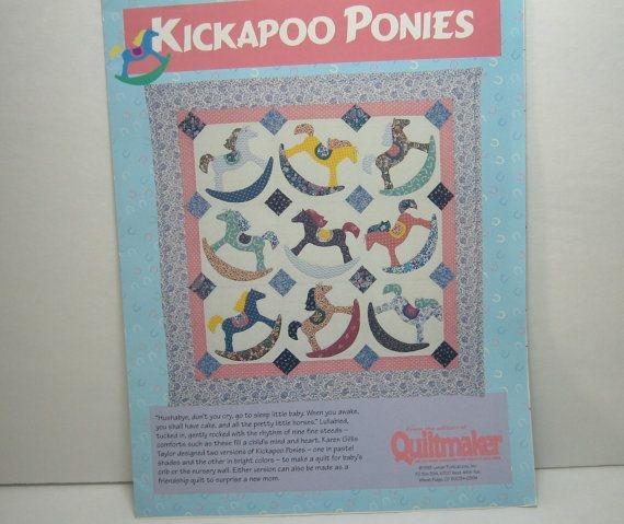 rocking horse vintage quilt pattern quiltmaker kickapoo Elegant Rocking Horse Block Quilt Pattern Inspirations