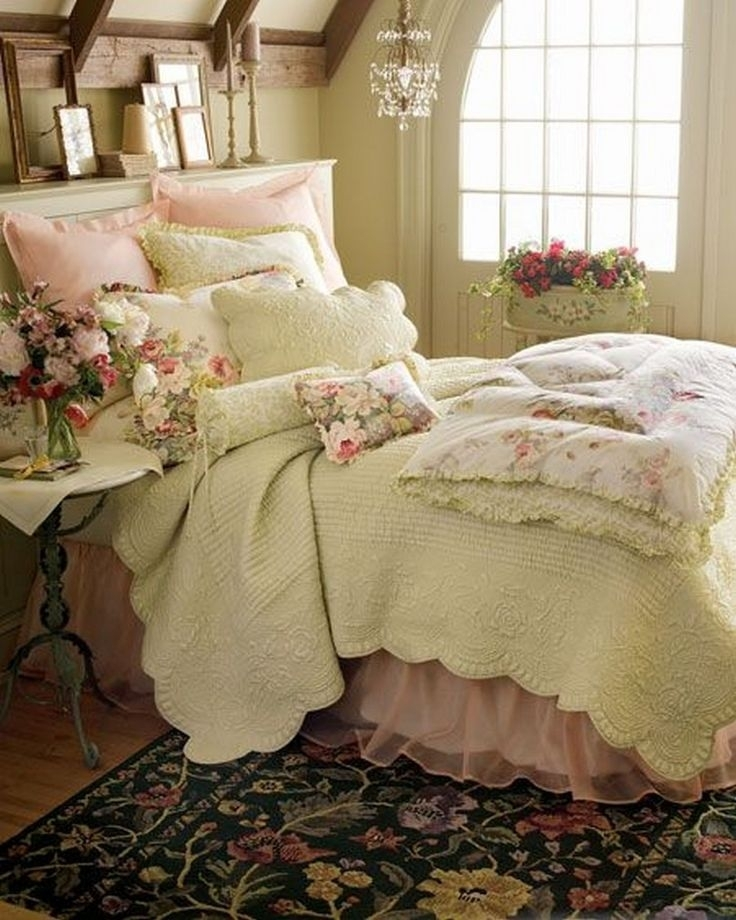 romantic bedroom on a budget french country bedrooms classic Cozy Country Living Classic Vintage Quilt Set