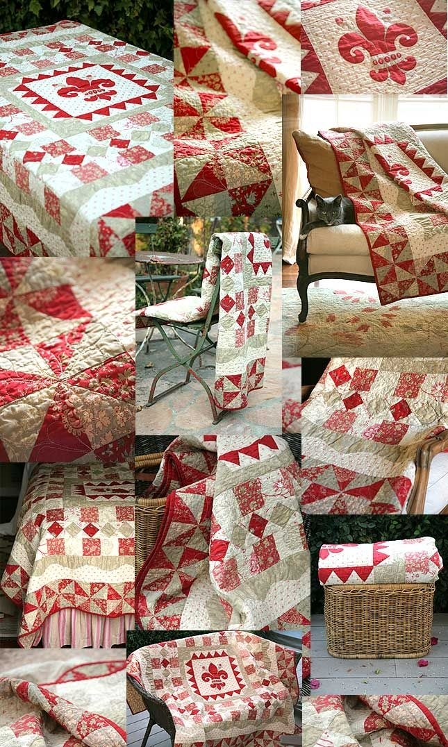 rouenneries deux french general moda fabric layer cake Modern French General Fabric Quilt Patterns Inspirations