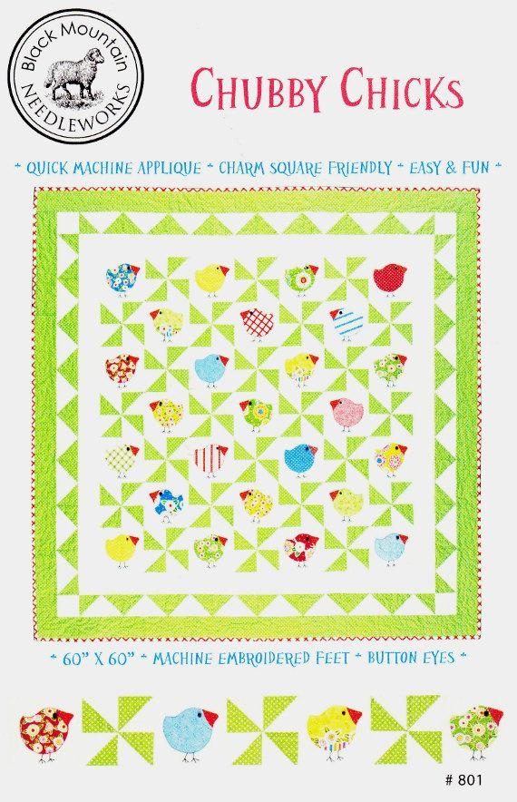 sale sale chub chicks quilt pattern 5 charm friendly black mountain needleworks 801 Cozy Chubby Chicks Quilt Pattern