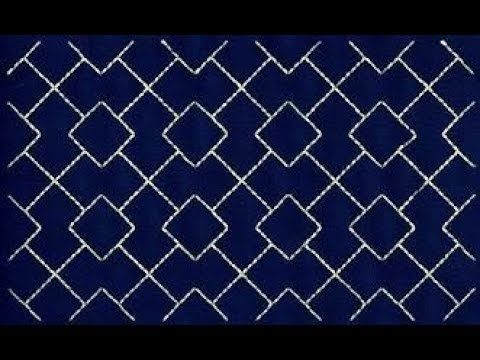 sashiko embroidery quilt design tutorial 4 for very beginners Cozy Sashiko Quilting Patterns Gallery
