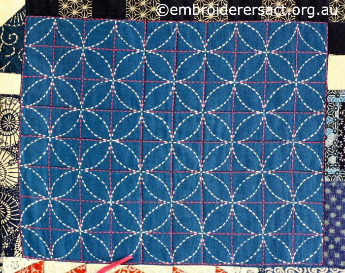 sashiko sampler quilt embroiderers guild act Cozy Sashiko Quilting Patterns Gallery