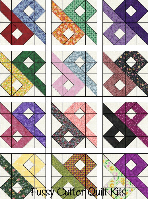scrappy grab bag fabric chinese puzzle patchwork pattern Unique Quilting Squares Patterns Gallery