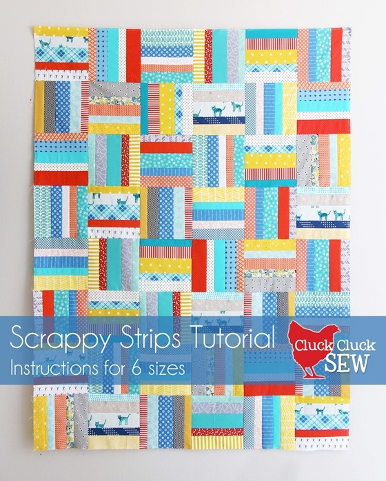 scrappy strips quilt tutorial cluck cluck sew Elegant Quilt Patterns Using Strips