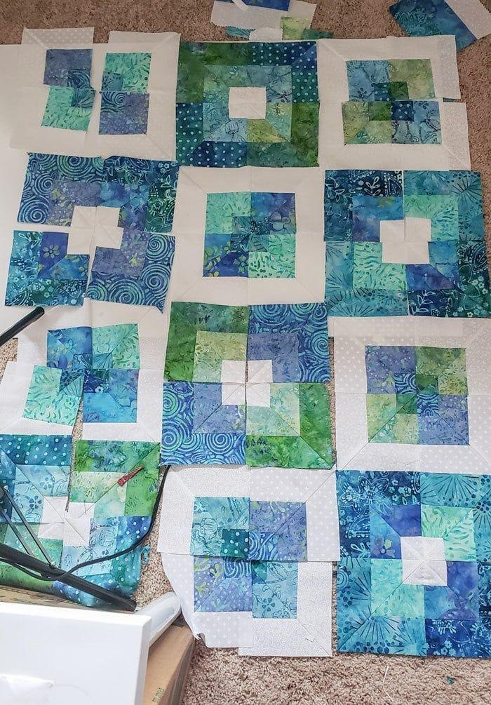 seaside squares lap quilt easy square in square quilt block Stylish Square In Square Quilt Pattern