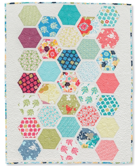 sew and quilt hexagons in a whole new way giveaway Cozy Hexagon Quilts Layout
