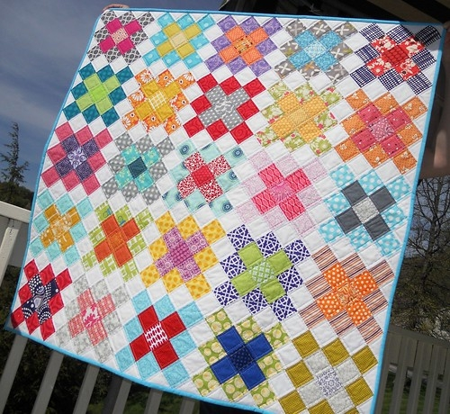 sew fresh quilts granny square quilt block tutorial part 1 Elegant Granny Square Quilt Pattern