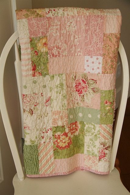 shab chic 9 patch batoddler quilt quilts shab Stylish Shabby Chic Quilt Pattern