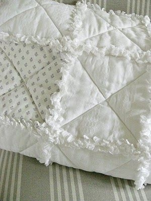 shab chic inspired rag quilt tutorial love this in the Cozy All White Quilt Patterns Inspirations