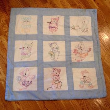 shop ba quilt blocks on wanelo vintage ba quilt quilt Modern Vintage Baby Quilts Inspirations