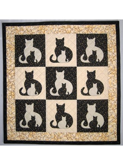 Permalink to Interesting Applique Cat Quilt Patterns