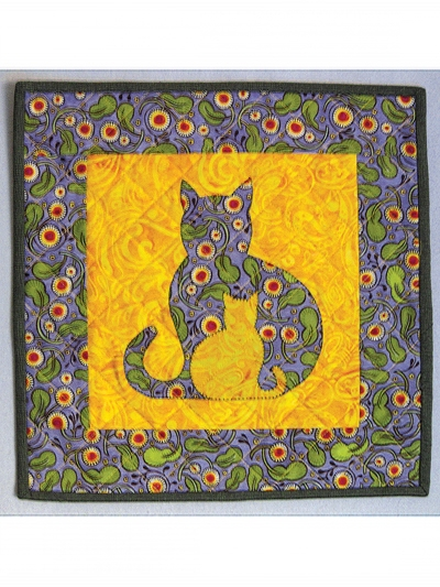 sidekick cat quilt pattern Interesting Applique Cat Quilt Patterns