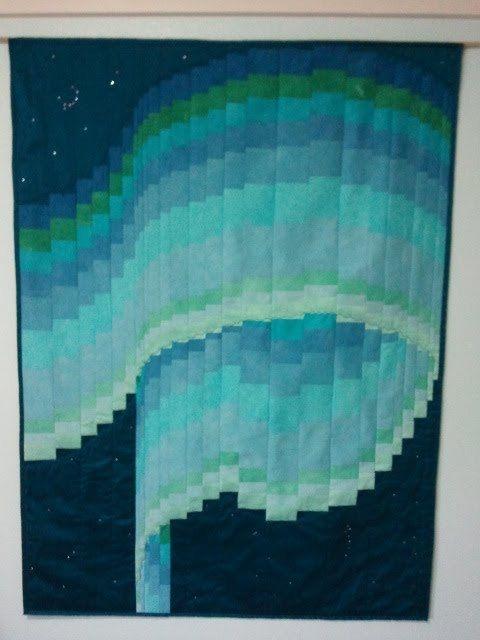 silk northern lights bargello quilt 48×36 etsy pattern Elegant Northern Lights Quilt Pattern Gallery