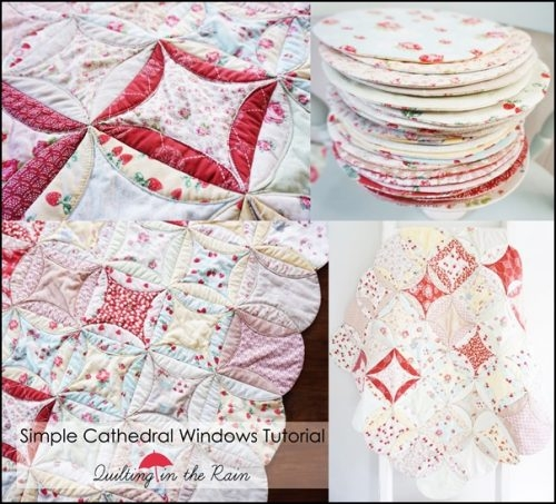 simple cathedral windows quilt blanket tutorial the Cozy Easy Cathedral Window Quilt Pattern