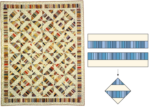 simple strip quilting designs 4 techniques stitch this Stylish Strip Pieced Quilt Patterns Inspirations