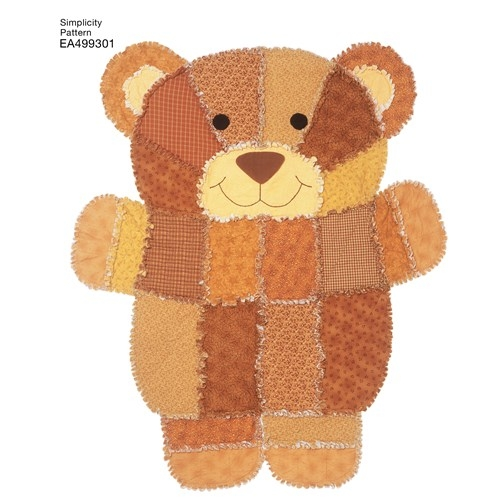simplicity pattern 4993 Cozy Teddy Bear Rag Quilt Pattern Gallery
