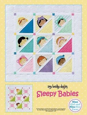 sleepy babies quilt pattern amy bradley designs lap quilt wallhangingpillow ebay Cozy Amy Bradley Quilt Patterns Gallery