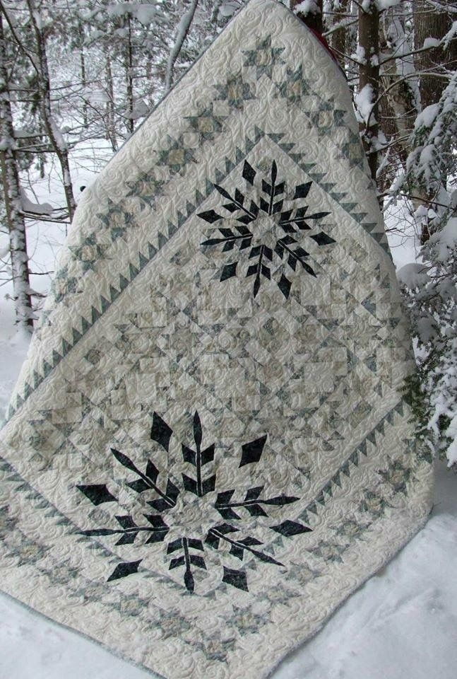 snowflake quilt quilts and quilting snowflake quilt Cool Snowflake Quilting Pattern