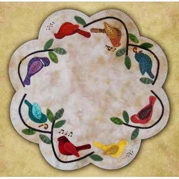 songbirds table mat wool applique quilt pattern Interesting Wool Applique Quilt Patterns