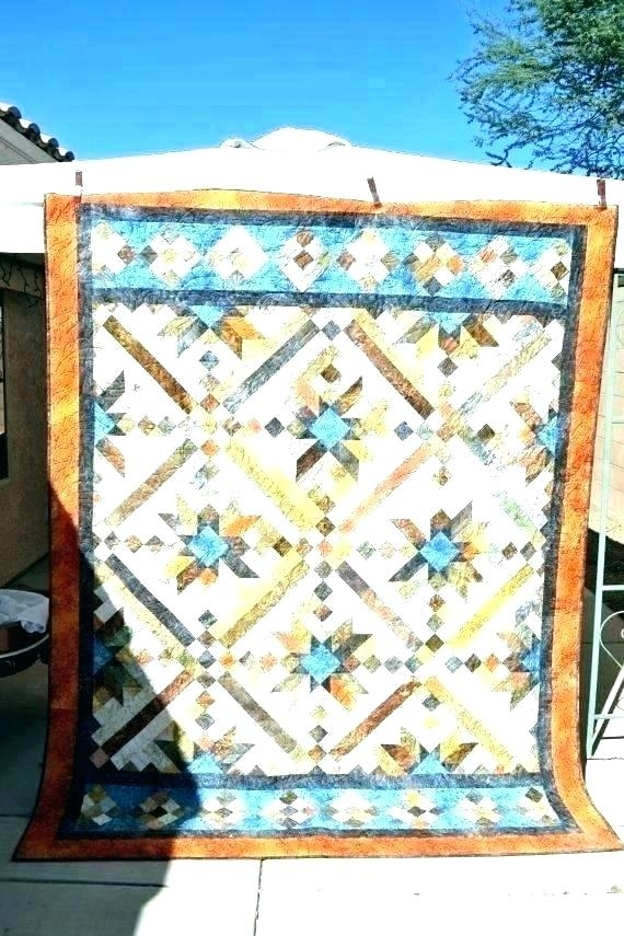 southwest quilt pattern quilts table runner elasu Cozy Southwest Serenity Quilt Pattern Gallery