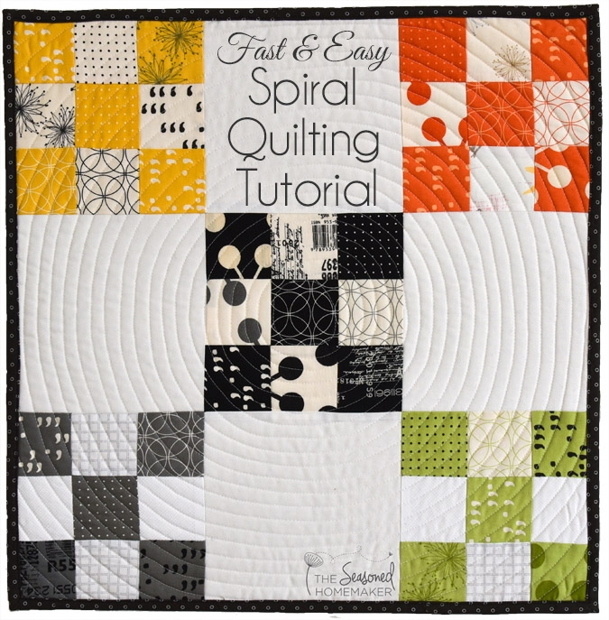 spiral quilting with a walking foot the seasoned homemaker Cool Walking Foot Quilting Patterns Inspirations