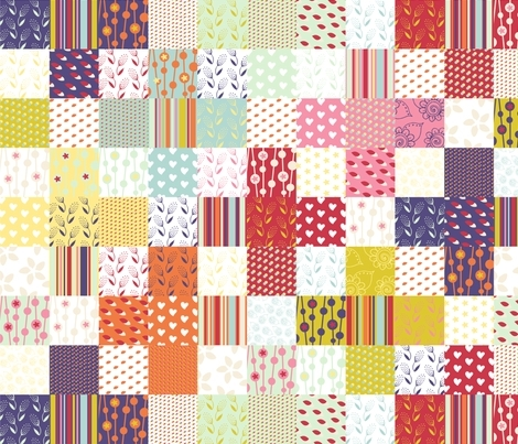spring plus sign cheater quilt fabric radianthomestudio Unique Cheater Quilt Fabric