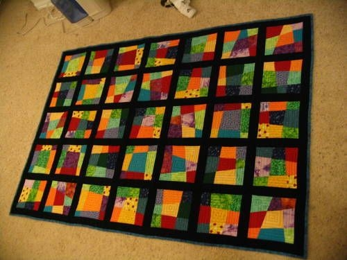 stack and whack crazy nine patch oooh i like this Cozy Crazy Nine Patch Quilt Pattern