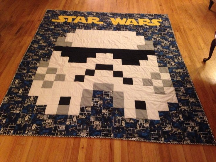 star wars quilt pattern homemade star wars quilt for the Unique Star Wars Quilt Fabric Inspirations