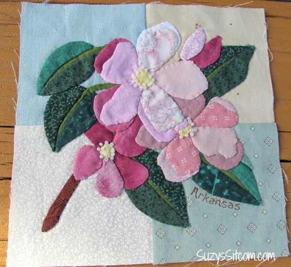 state flower applique quilt and an exciting opportunity to Interesting Applique Quilt Patterns Flowers