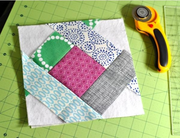 stitch and flip tutorial make an easy potholder Cozy Flip And Sew Quilting Method Inspirations