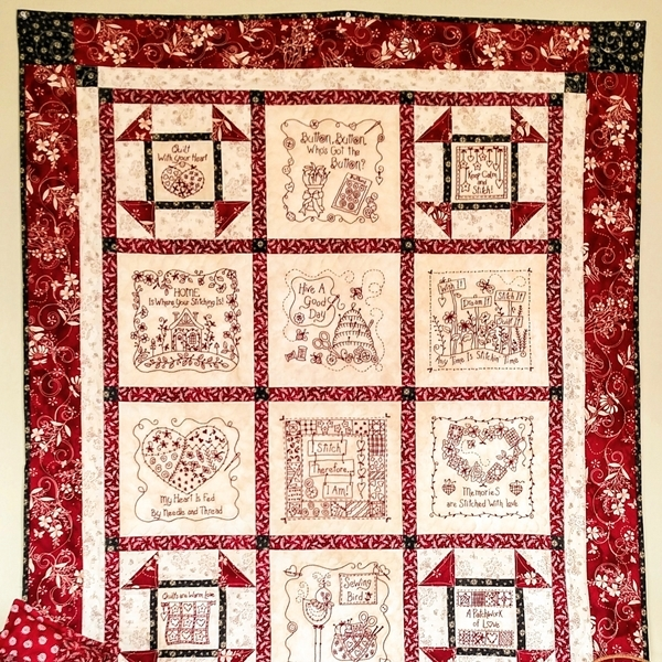 stitchin wisdom hand embroidery quilt Interesting Embroidery Quilt Patterns Gallery
