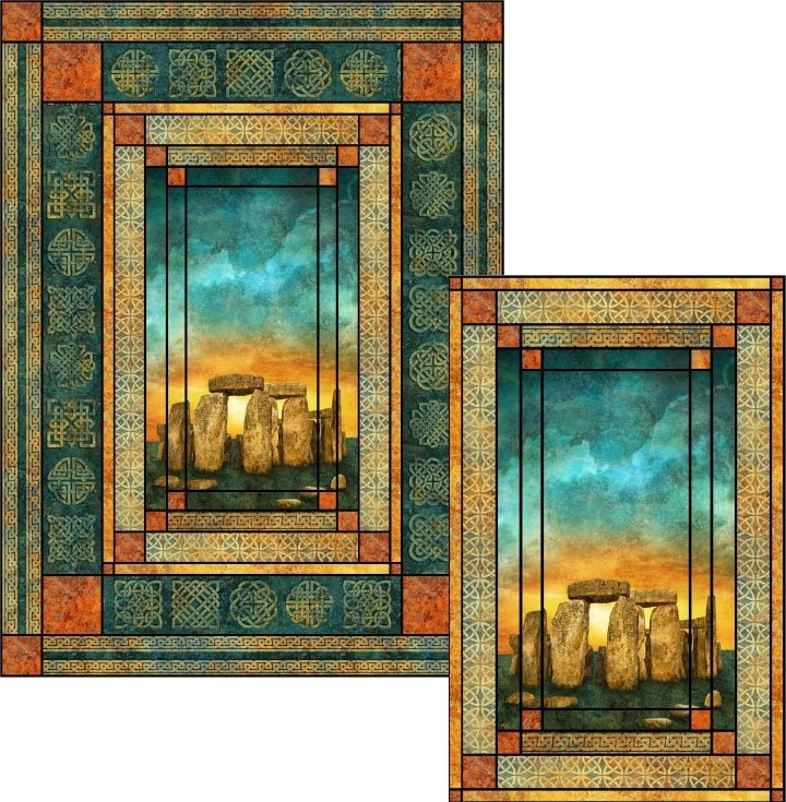 stonehenge solstice stained glass quilt pattern Stylish Stonehenge Quilt Patterns
