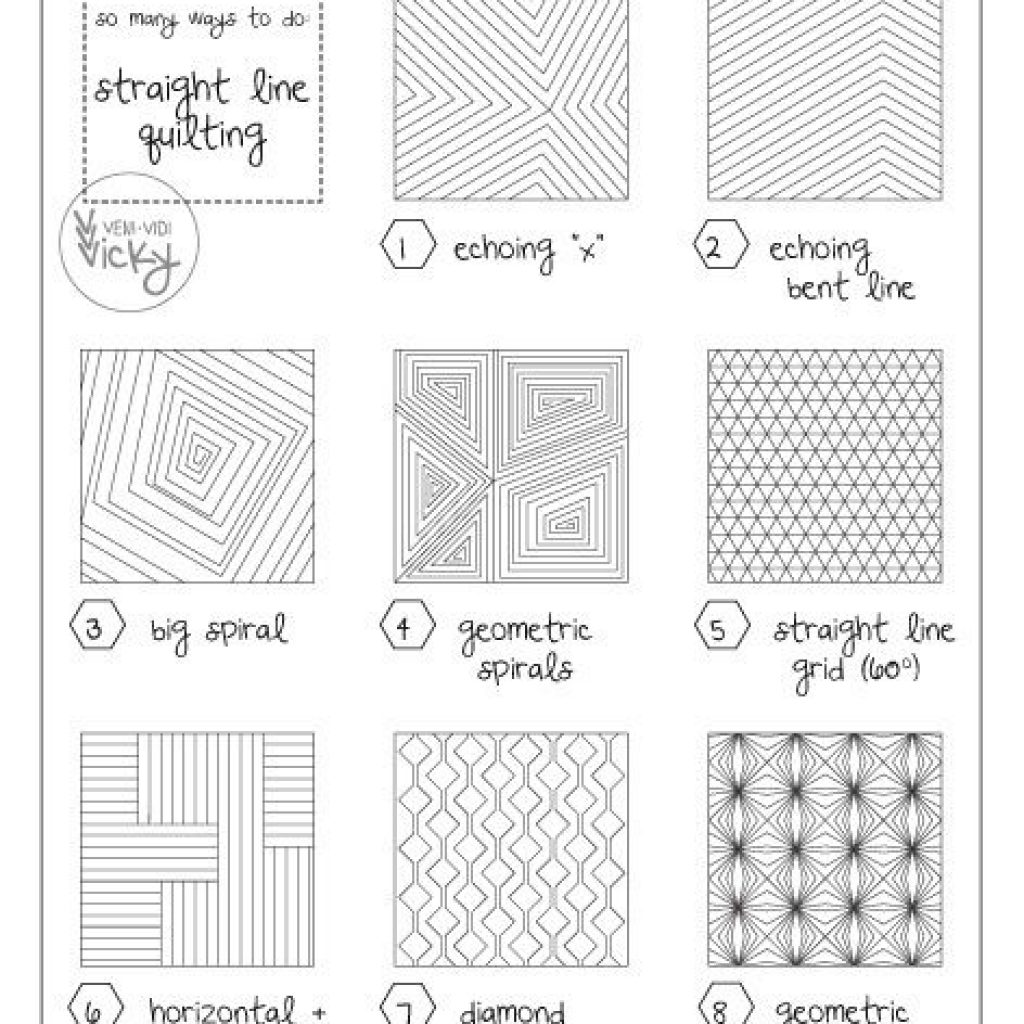 straight line quilting patterns sewingquilting machine Cool Quilting Design Patterns Gallery