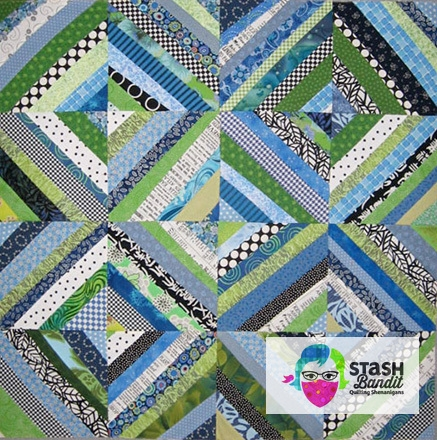 string piecing and improvisation stash bandit Stylish Strip Pieced Quilt Patterns Inspirations